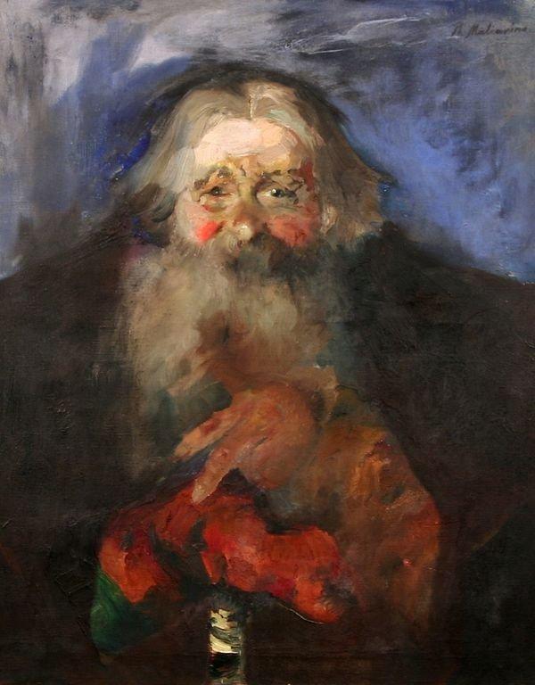 22: MALIAVIN B1869 Russian Oil Painting Portrait
