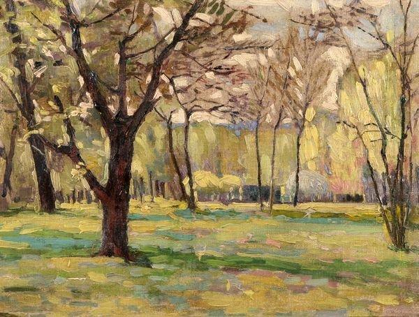 27: ALEXANDRE ALTMANN B1885 Russian Oil Painting
