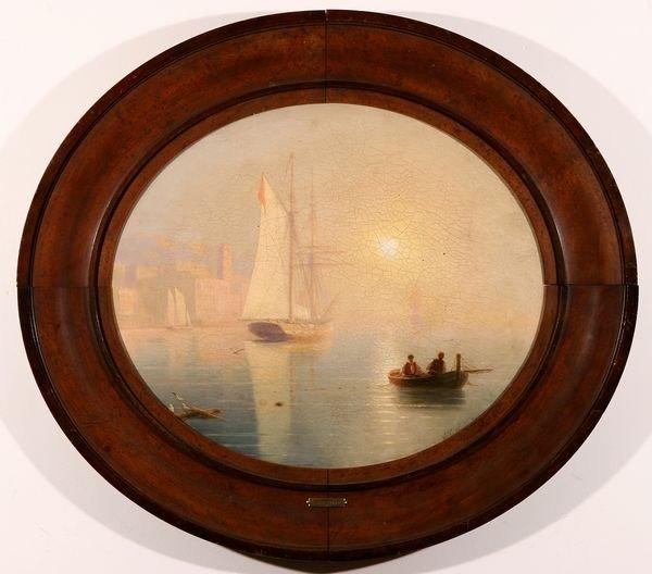 31: AIVAZOVSKY B1817 Russian Oil Painting Sea Attrib.
