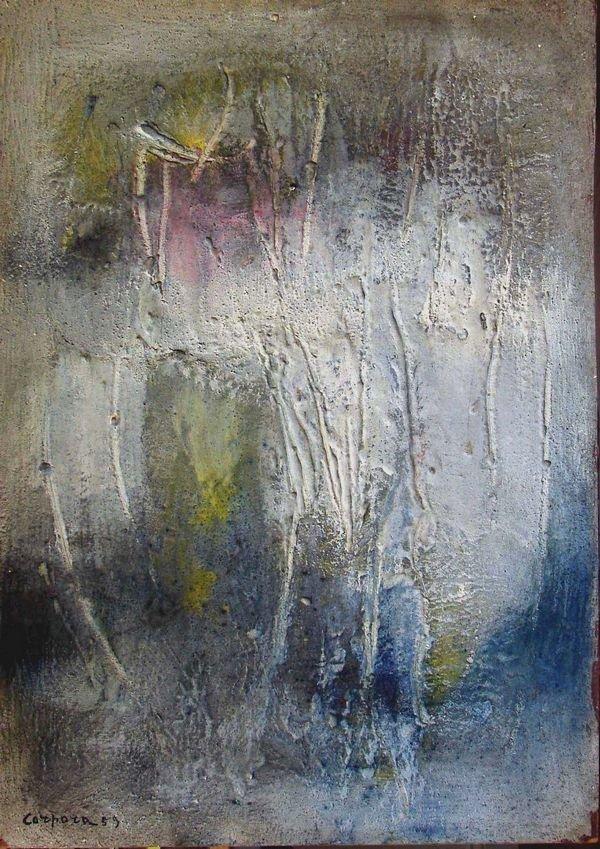 135B: ANTONIO CORPORA B1909 Italian Abstract Painting