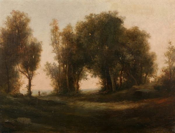 BARBIZON School 19TH C French Oil Painting Antique