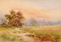 270 BRUCE CRANE B1857 Watercolor Painting Old Lyme