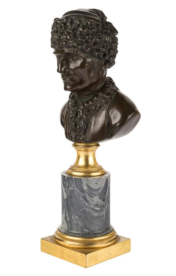 A PAIR OF FINE FRENCH BRONZE BUSTS OF ROUSSEAU AND - 2