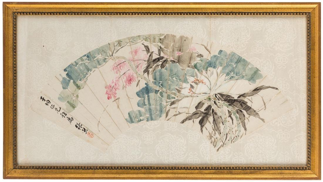 A CHINESE DECORATED FAN BY YHANG XING - 2