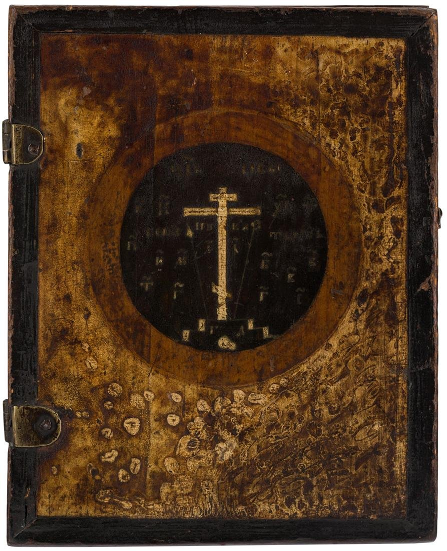 A RUSSIAN DYPTICH OF CHRIST PANTOCRATOR, 18TH CENTURY - 2