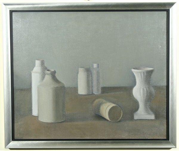 64B: SARANDIS KARAVOUSIS B1938 Greek Oil Painting - 2