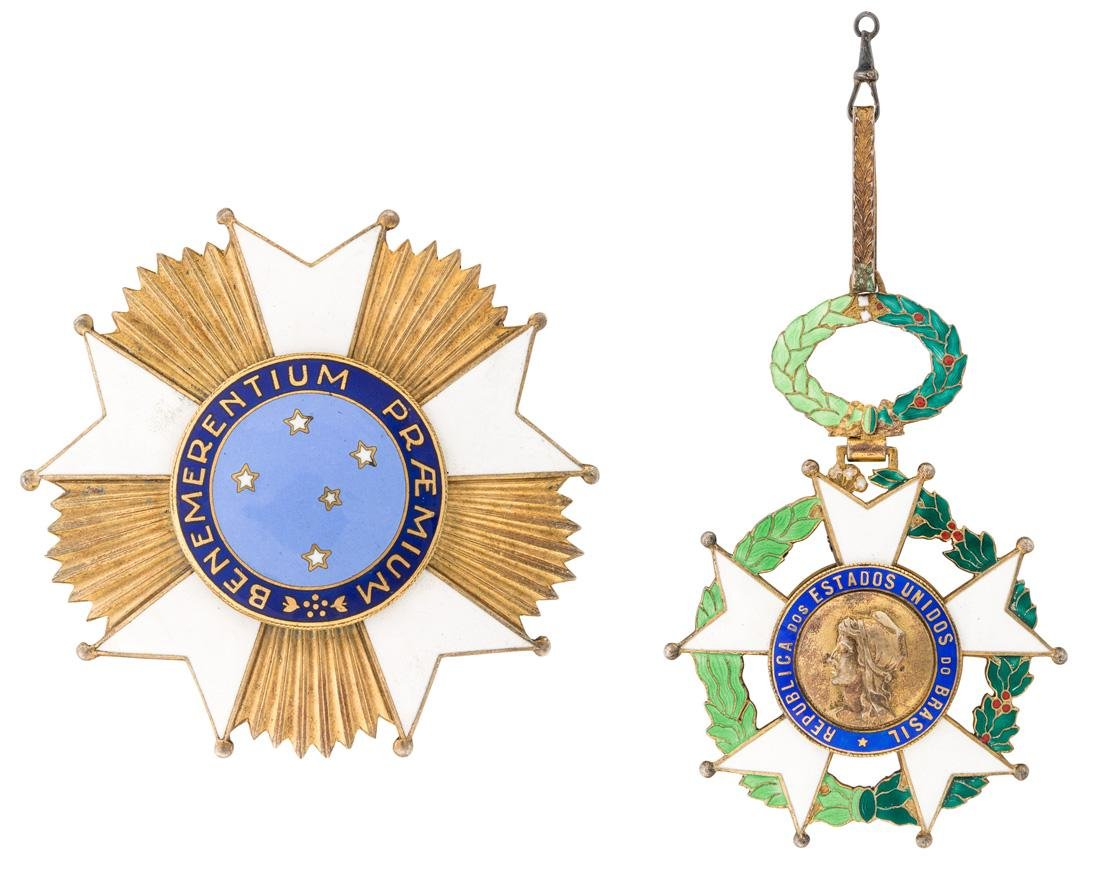 A PAIR OF ORDERS OF THE BRAZILIAN NATIONAL ORDER OF THE
