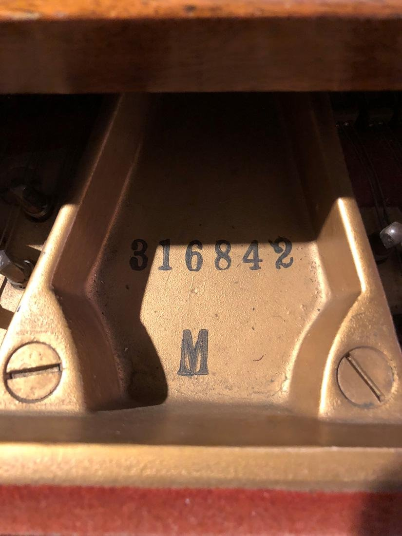 STEINWAY & SONS BABY GRAND PIANO, MODEL M SERIAL NUMBER - 6