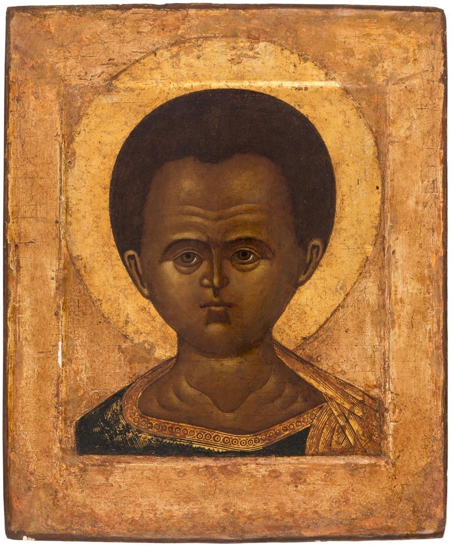 A RUSSIAN ICON OF CHRIST EMMANUEL, NORTHERN RUSSIA,