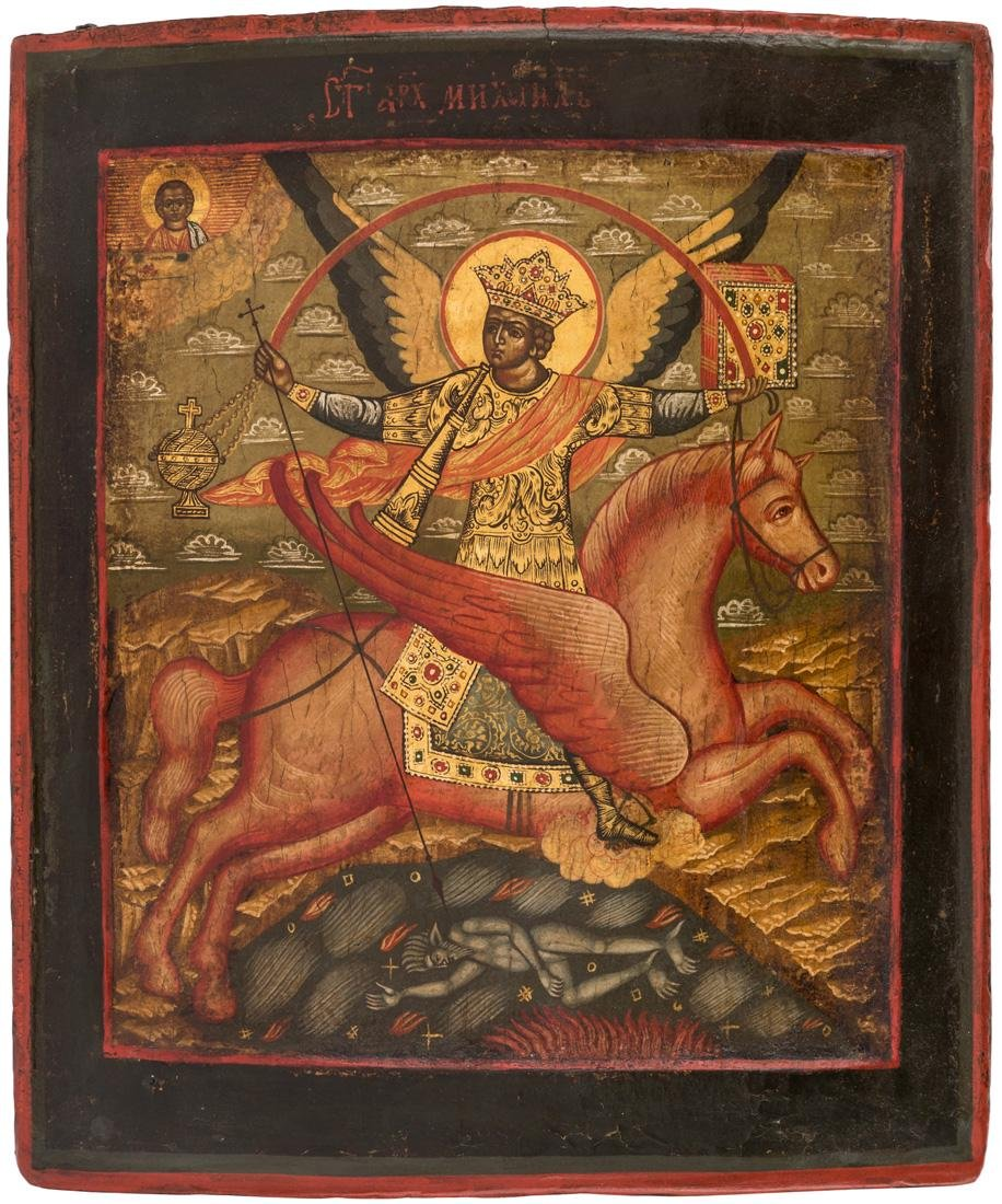 A RUSSIAN ICON OF THE ARCHANGEL MICHAEL, MOSCOW REGION,