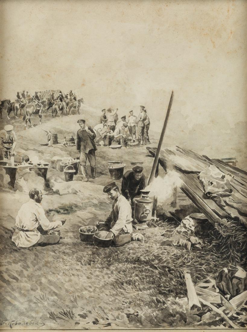 PAVEL OSIPOVICH KOVALEVSKY (RUSSIAN 1843-1903)