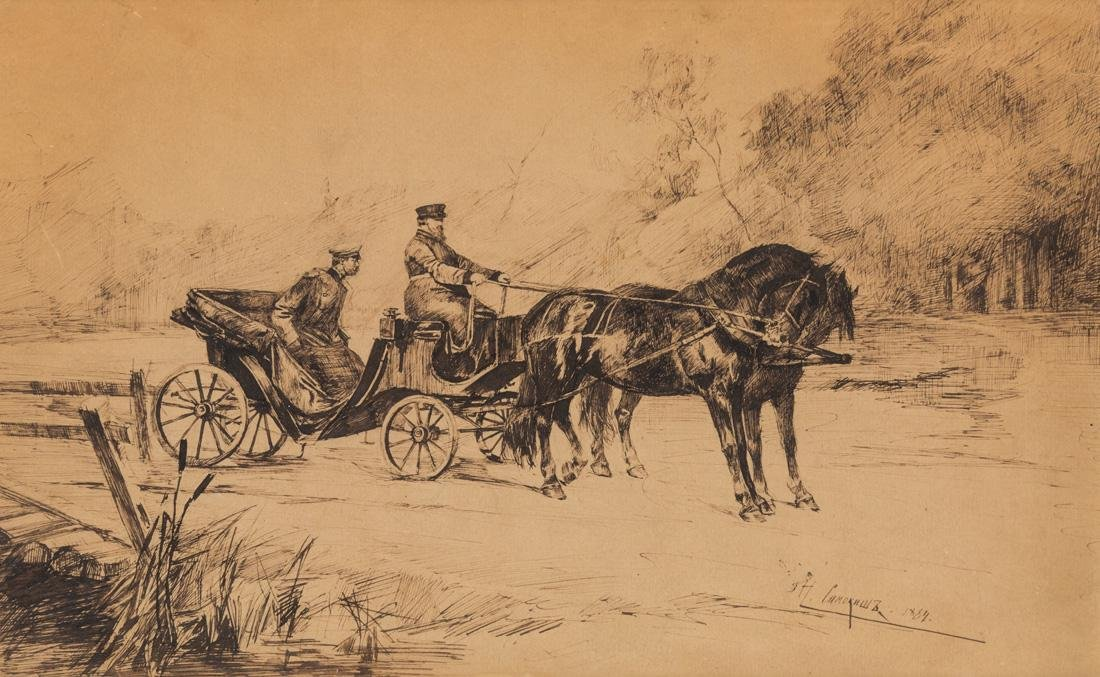 NIKOLAI SEMYONOVICH SAMOKISH (RUSSIAN 1860-1944)