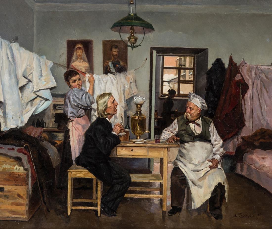 VLADIMIR YEGOROVICH MAKOVSKY (RUSSIAN 1846-1920)