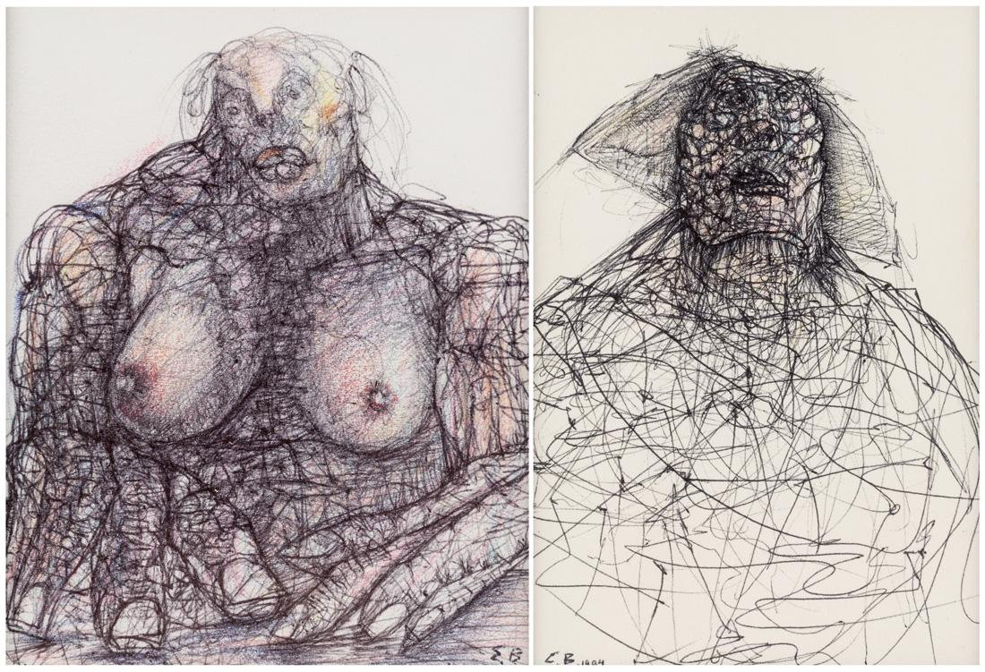 A PAIR OF DRAWINGS BY EDWARD BEKKERMAN