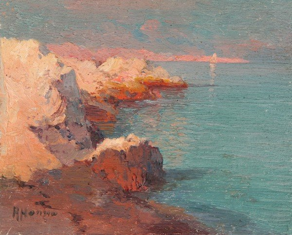1: ALEXEI HANZEN B1876 Russian Oil Painting Seascape