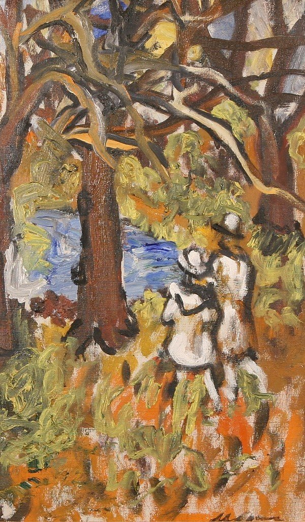 21: SACHA MOLDOVAN B1901 Russian Oil Painting