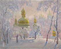 131: MIKHAIL BELSKY Russian Oil Painting Orthodox