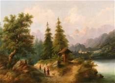 247 PAUL WEBER B1823 Antique American Oil Painting