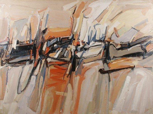 286: JAMES HARVEY B1929 Painting Museum Deaccession