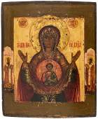 A RUSSIAN ICON OF OUR LADY OF THE SIGN (ZNAMENIE),