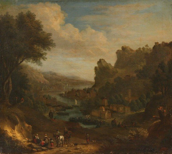1: JAN GRIFFIER B1645 Old Master Oil Painting Attrib