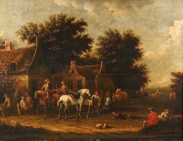 2: E RUYTENBACH Dutch 17thC Old Master Oil Painting