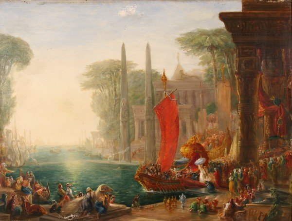 13: HENRY ANDREWS B1794 Antique British Oil Painting