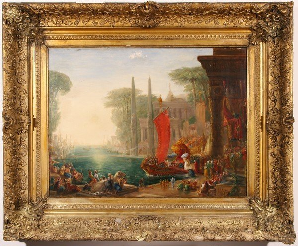 13: HENRY ANDREWS B1794 Antique British Oil Painting - 2