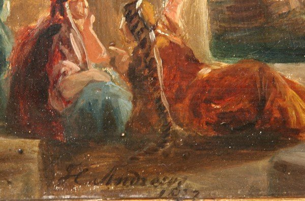 13: HENRY ANDREWS B1794 Antique British Oil Painting - 3