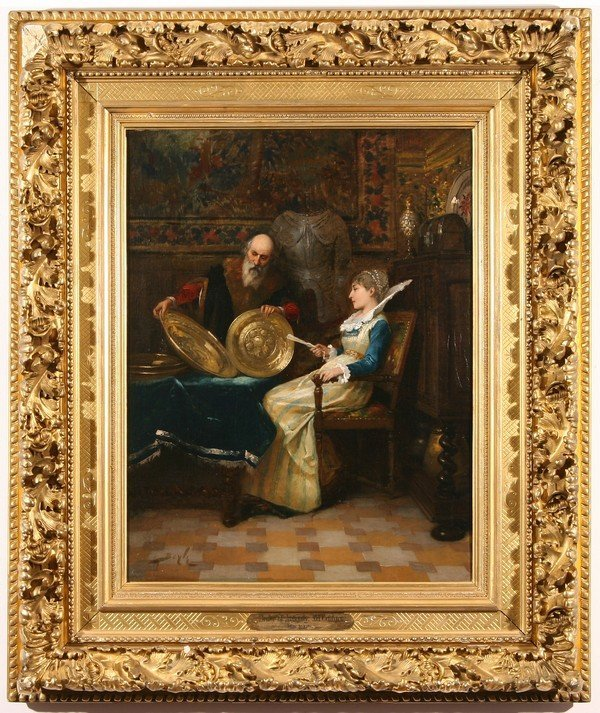 18: PIERRE BEYLE B1838 French Genre Oil Painting - 2
