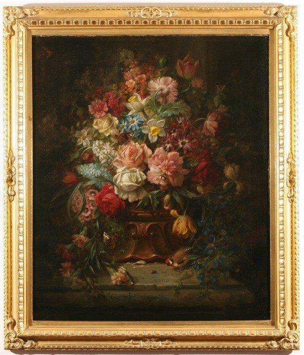 19: HANS ZATZKA B1859 Austrian Antique Oil Painting - 2