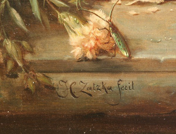 19: HANS ZATZKA B1859 Austrian Antique Oil Painting - 3