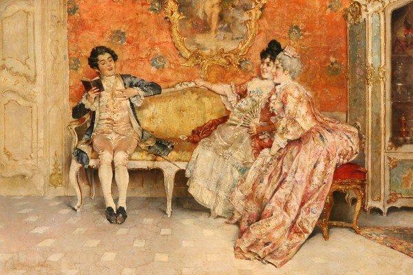 20: LEOPOLD SCHMUTZLER Austrian Antique Oil Painting