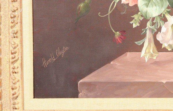 21: HAROLD CLAYTON British Oil Painting Still Life - 3