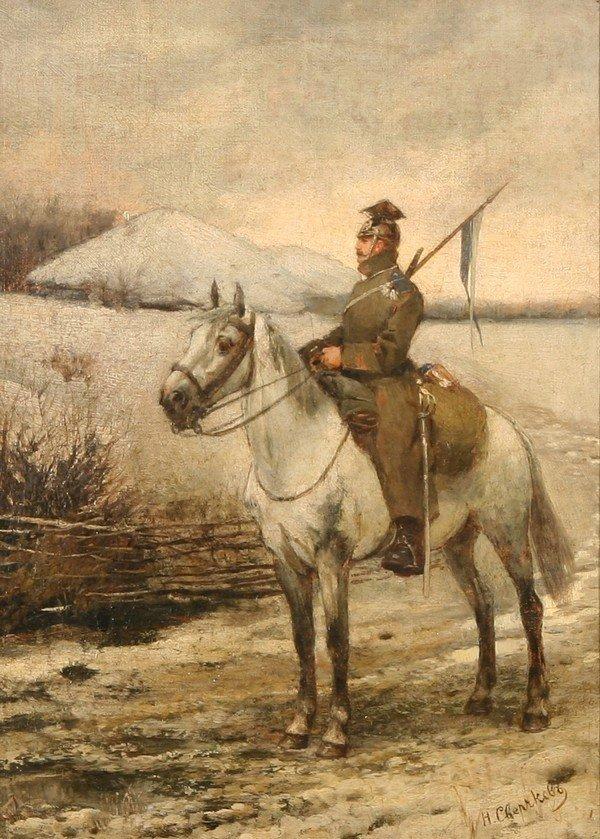 2: SVERCHKOV B1817 RUSSIAN PAINTING CAVALRY OFFICER