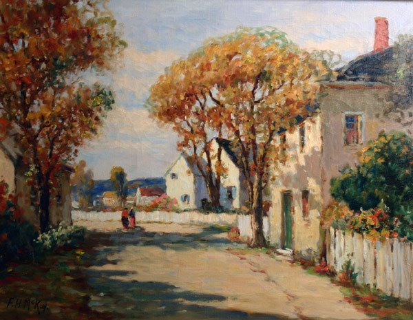 1: FRANCES H MCKAY b1880 American Rockport Painting