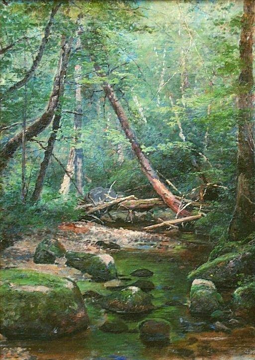 5: HERMANN HERZOG b1832 American Landscape Painting