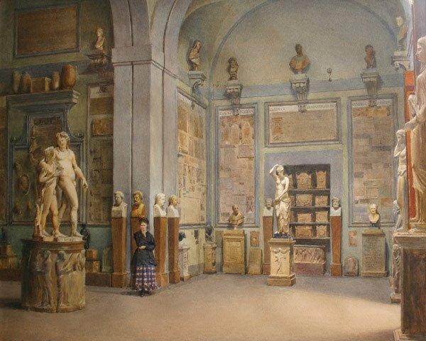 6: DOMENICO CALIGO 19th Century Italian Painting
