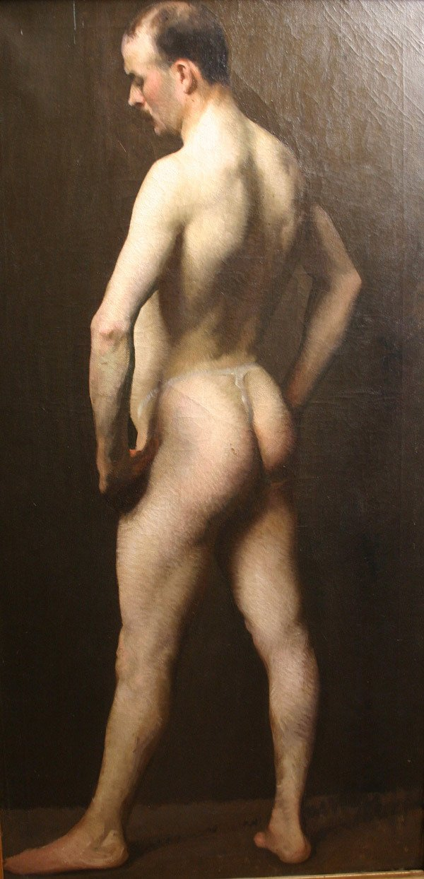 7: FREDERICK ANDREW BOSLEY b1881 Painting Nude Male