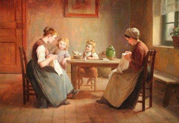 16: JOSEPH ALSINA 19th Century French Oil Painting