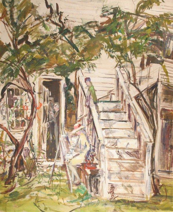 18: THERESA BERNSTEIN b1890 Painting Gloucester MA