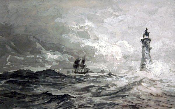 20: WILLIAM TROST RICHARDS b1833 American Painting RI