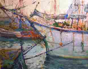 21: JANE PETERSON b1876 Painting Gloucester Cape Ann