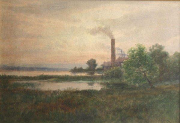 24: JAMES BRADE SWORD b1839 Painting Delaware River