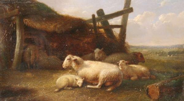 46: EUGENE VERBOECKHOVEN b1798 Belgian Oil Painting