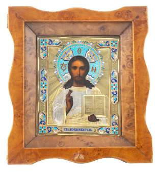 A RUSSIAN ICON OF CHRIST PANTOCRATOR, NIKOLAY GRACHEV