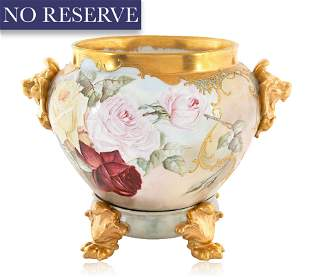 A FRENCH PORCELAIN JARDINIERE, DELINERES D&C, FRANCE,