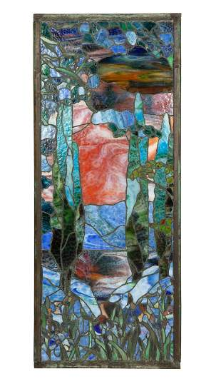 A STAINED GLASS PANEL, WATSON MANUFACTURING COMPANY,