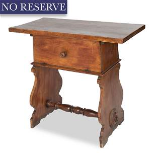 A RENAISSANCE REVIVAL WALNUT WRITING TABLE, 19TH