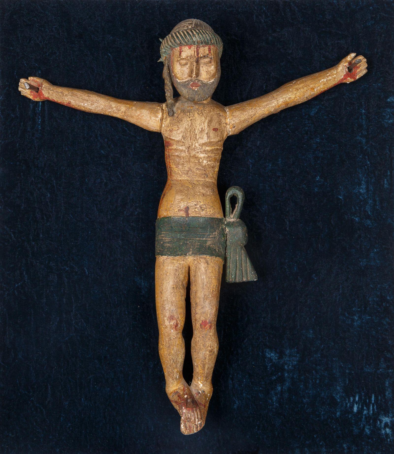 A SPANISH POLYCHROME CHRIST SANTO